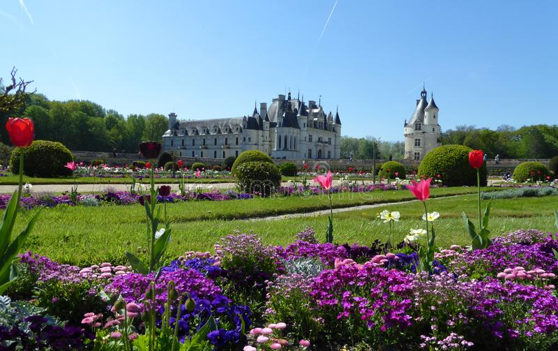 chateauchenonceau de france Loire Valley royaltyfria bilder