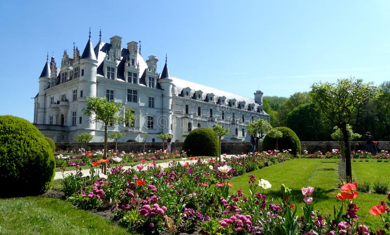 chateauchenonceau de france Loire Valley arkivfoton