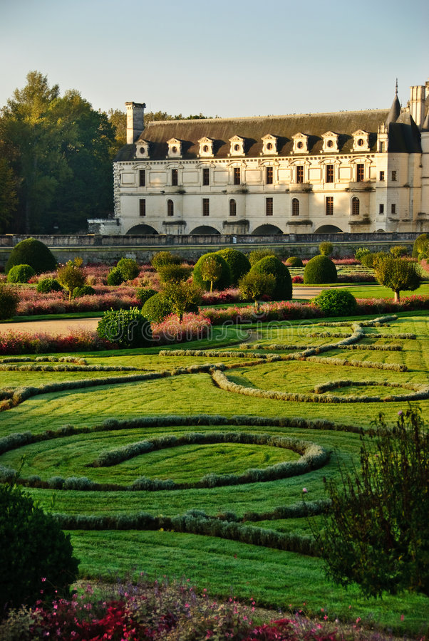 chateauchenonceau france Loire Valley royaltyfria bilder