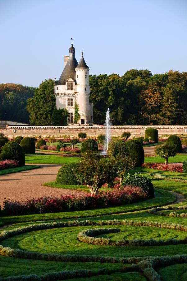 chateauchenonceau Loire Valley arkivfoton