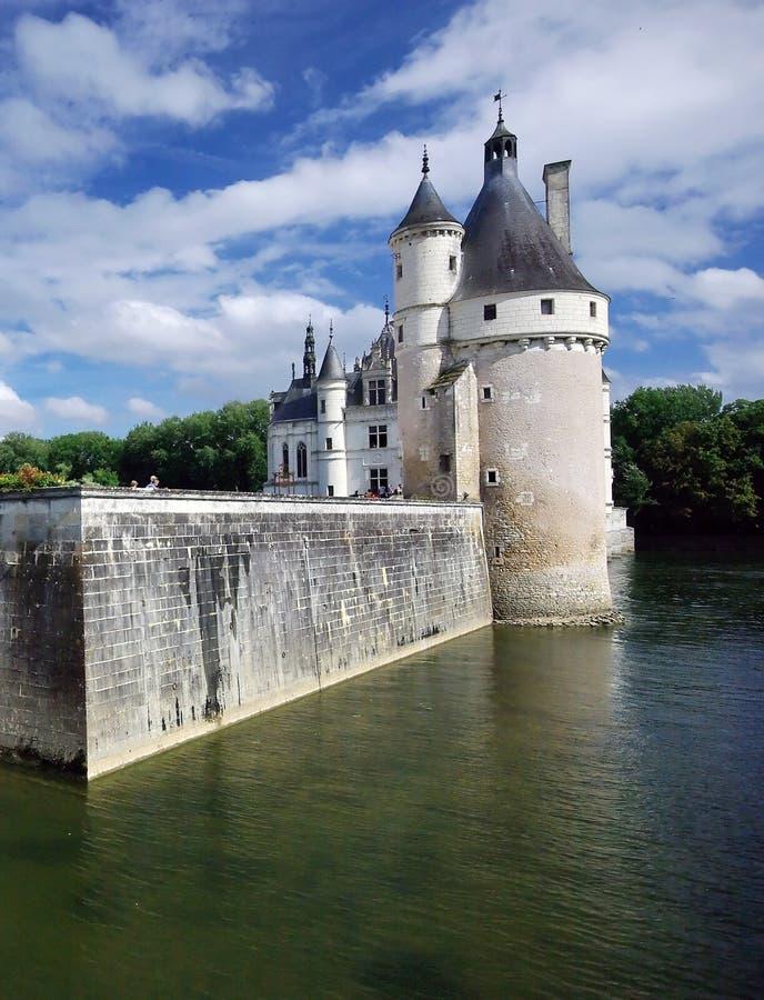 chateauchenonceaux royaltyfri fotografi