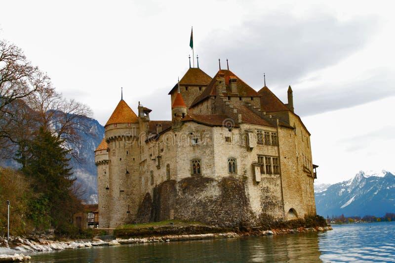 chateauchillon de switzerland arkivbilder