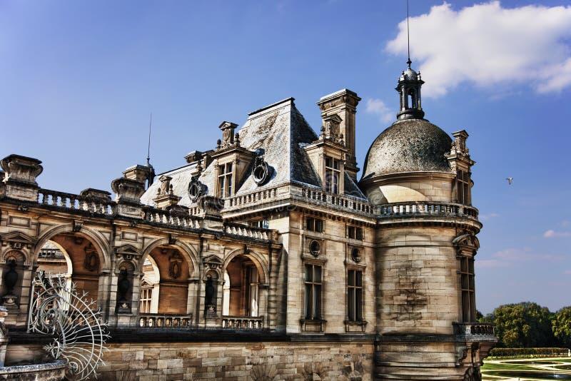 Chateaude Chantilly in Frankreich lizenzfreie stockfotografie