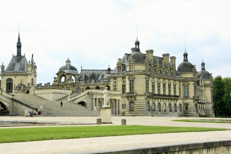 Chateaude Chantilly, Frankreich lizenzfreie stockfotos