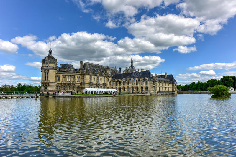 Chateaude Chantilly - Frankreich stockfotografie