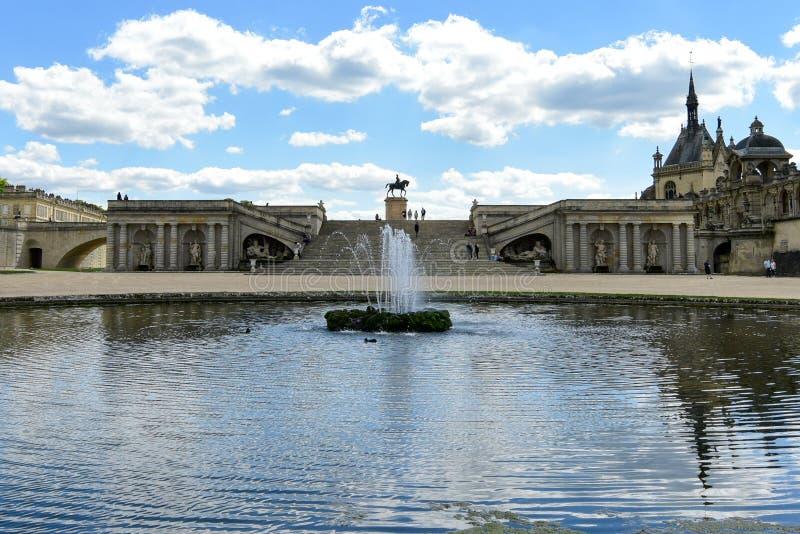Chateaude Chantilly - Frankreich stockbilder