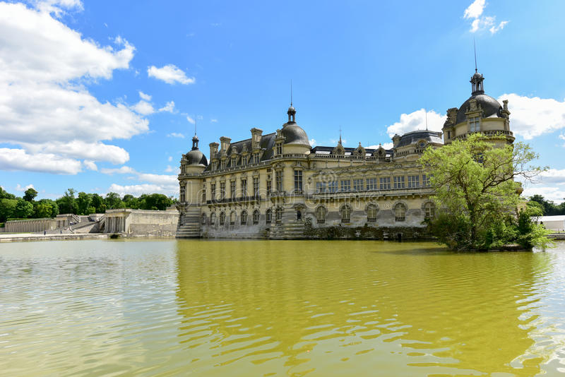 Chateaude Chantilly - Frankreich stockfotos