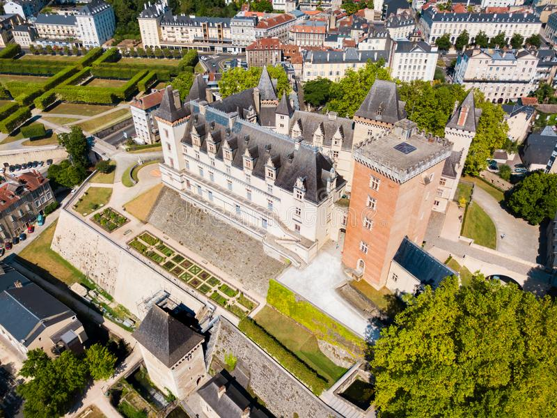 Chateaude Pau kasteel, Frankrijk stock fotografie