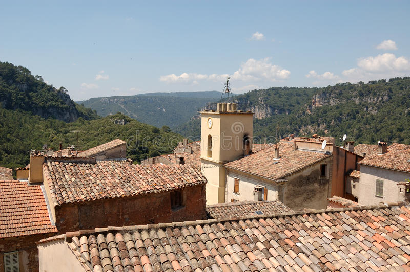 Chateaudouble. A hilltop village in Provence, France stock image