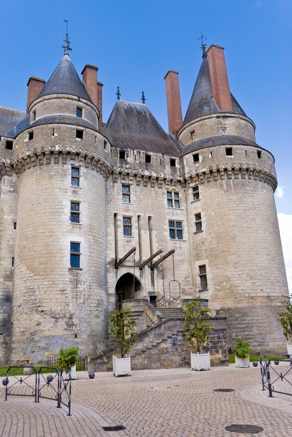 chateaufacadelangeais royaltyfri fotografi
