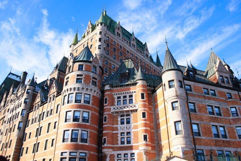 chateaufrontenac royaltyfria bilder