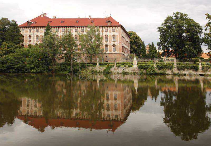chateaulibochovice arkivbild