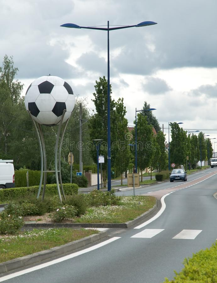 Chateauroux-Straße - footbal Ball stockfotos