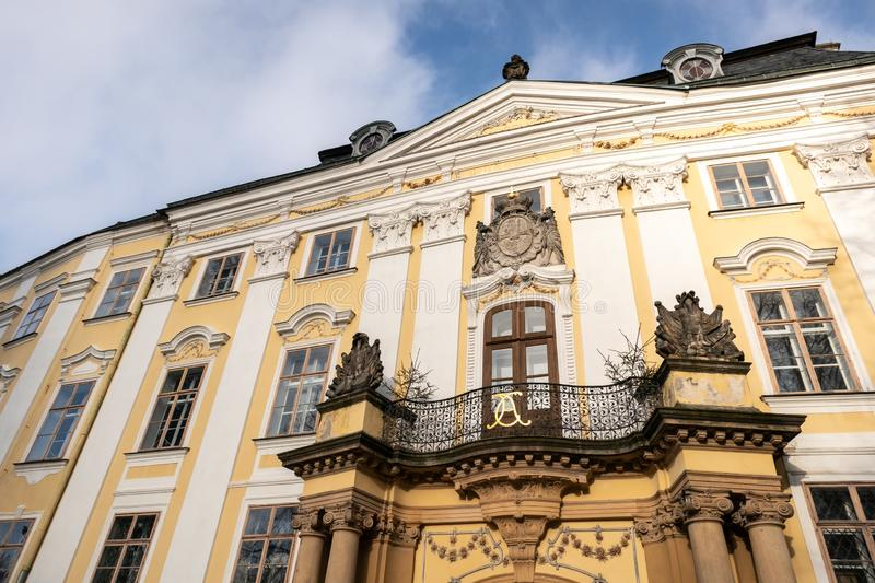 The chateaux in Bruntal, Czechia which was originaly built in 15th century ane later reconstructed in renaissance and baroque royalty free stock image