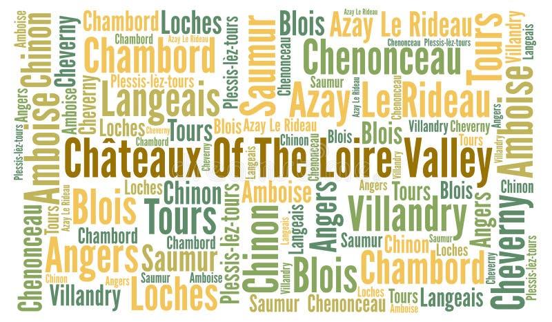 Chateaux du Val de Loire dans les Frances illustration libre de droits