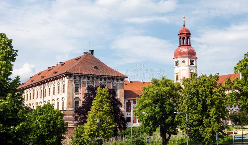Chateaux em Roudnice nad Labem, Rep?blica Checa imagens de stock