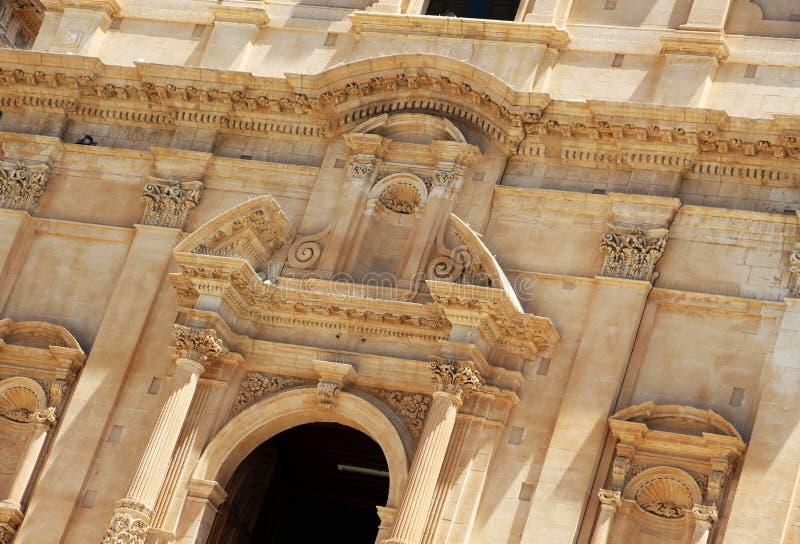 Chatedral barrocco del noto, dettaglio immagine stock libera da diritti