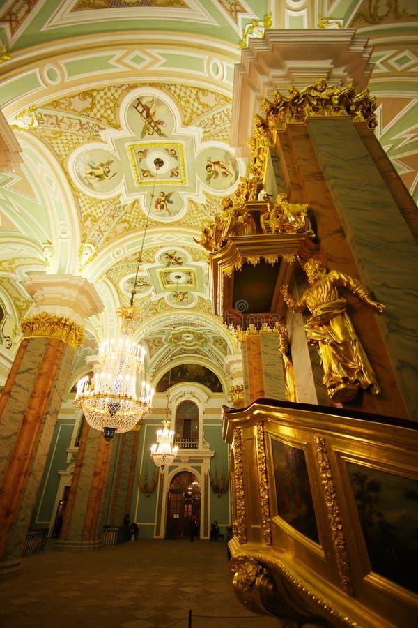 Chatedral en la fortaleza de Peter y de Paul fotografía de archivo