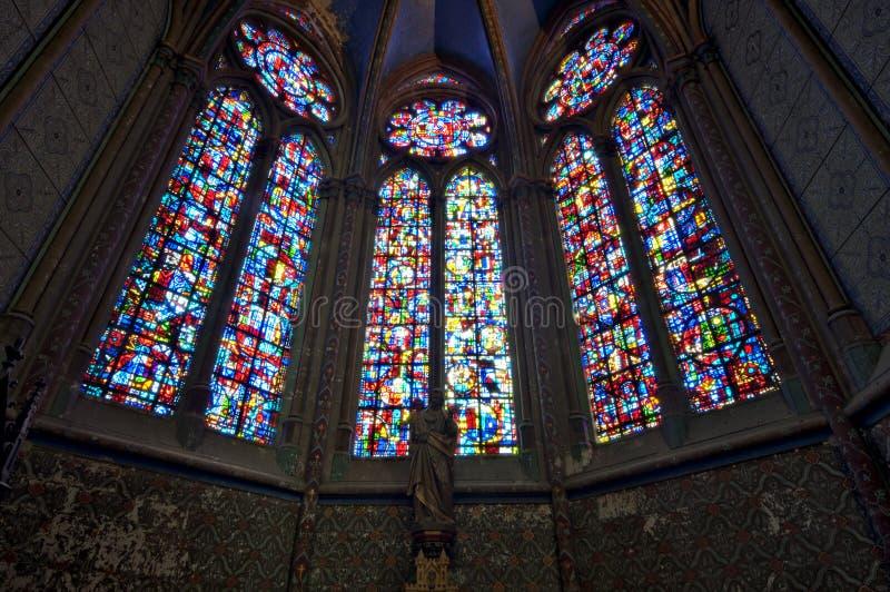 Chatedrale St Pierre Beauvais - wnętrze 03 zdjęcie stock