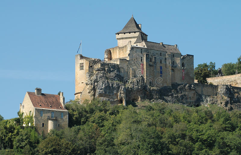 chateu dordogne France rzeka obraz stock