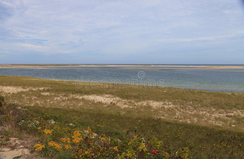 Chatham, Cape Cod beach. Beach in summer in Chatham, Massachusetts on Cape Cod stock photos