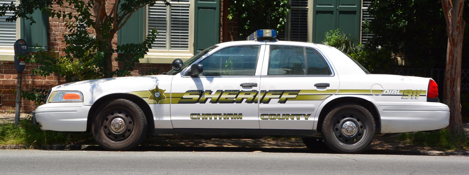 Chatham County Sheriff police car, stock photos