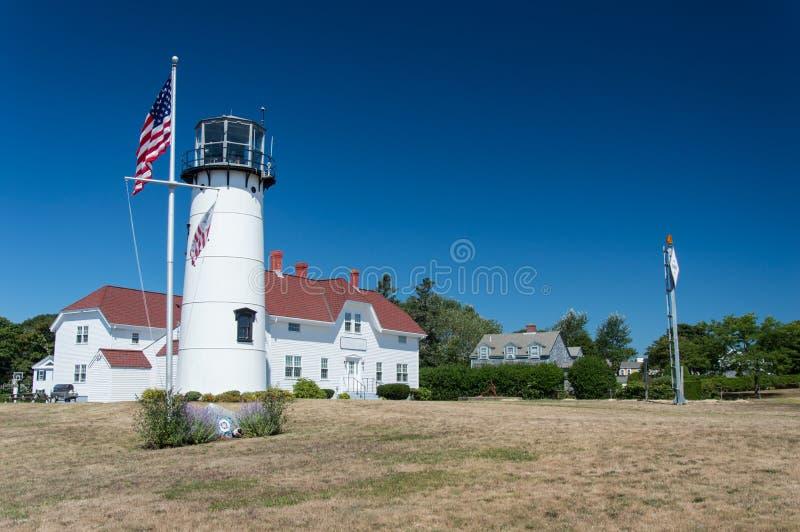 Chatham-Leuchtturm bei Cape Cod lizenzfreie stockbilder