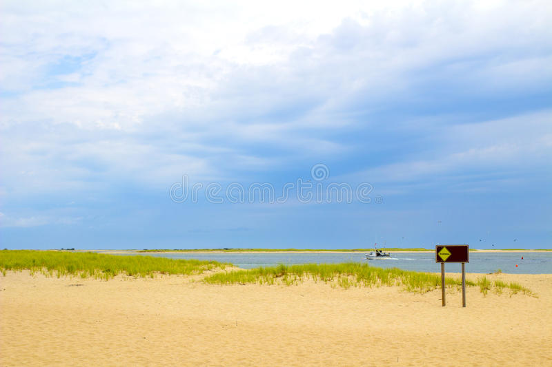 Chatham Lighthouse Beach. The Chatham Lighthouse Beach in Cape Cod Massachusetts royalty free stock image