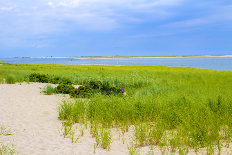 Chatham Lighthouse Beach. The Chatham Lighthouse Beach in Cape Cod Massachusetts royalty free stock photo