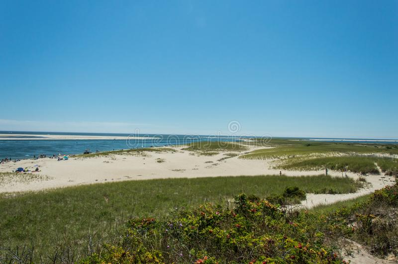Chatham Lighthouse Beach, MA, USA. The Chatham Lighthouse Beach in Cape Cod Massachusetts, USA royalty free stock image