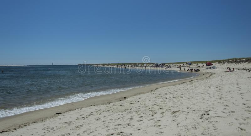 Chatham Lighthouse Beach, MA, USA. The Chatham Lighthouse Beach in Cape Cod Massachusetts, USA stock photography