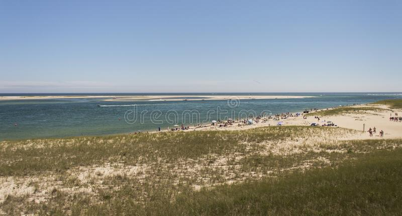 Chatham Lighthouse Beach, MA, USA. The Chatham Lighthouse Beach in Cape Cod Massachusetts, USA stock image