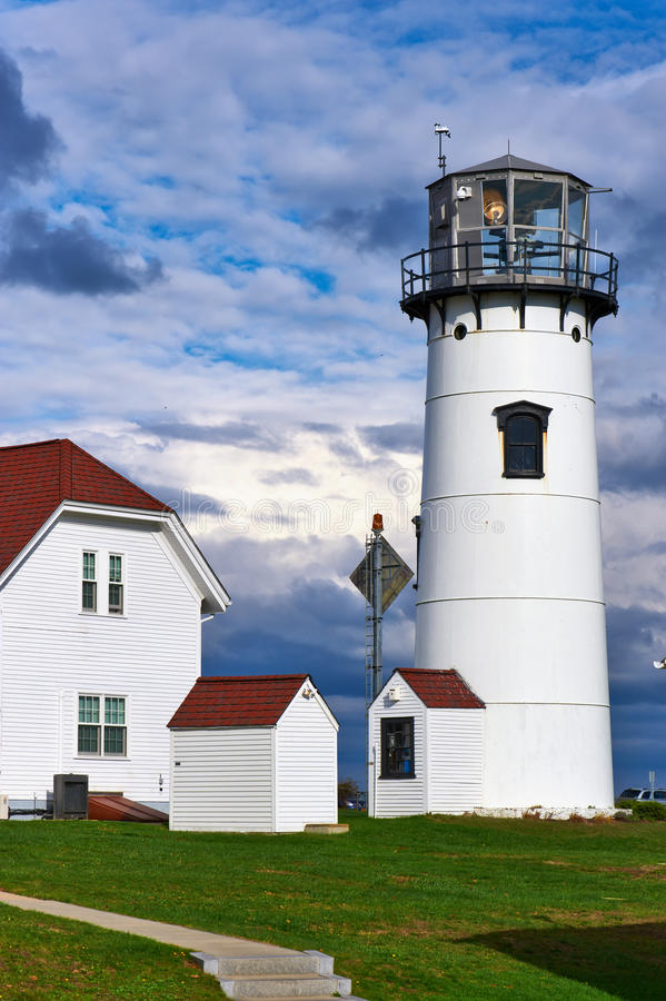 Chatham Lighthouse at Cape Cod. Chatham Lighthouse, built in 1808, Cape Cod, Massachusetts stock image