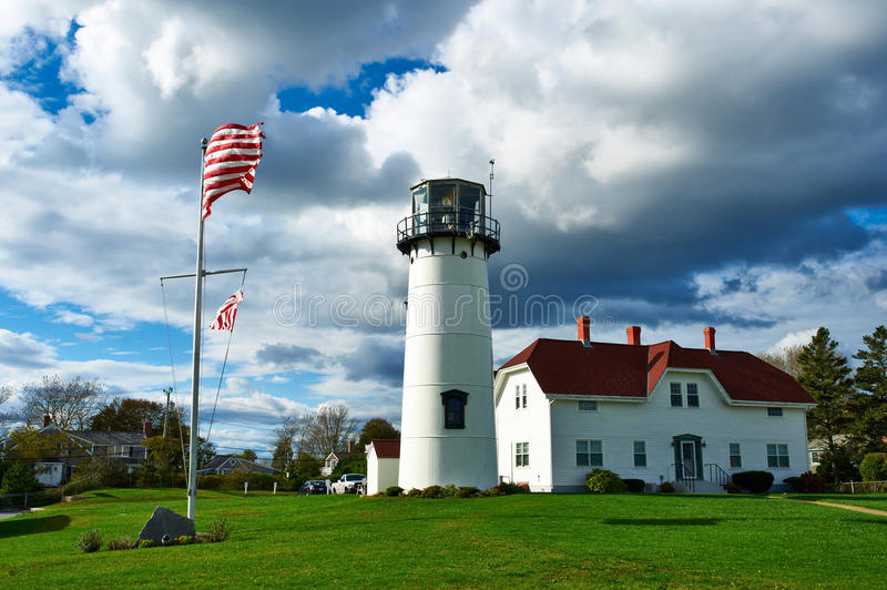 Chatham Lighthouse at Cape Cod. Chatham Lighthouse, built in 1808, Cape Cod, Massachusetts stock photography