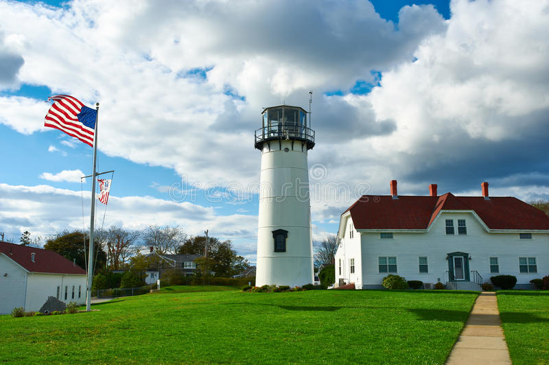 Chatham Lighthouse at Cape Cod. Massachusetts stock photography