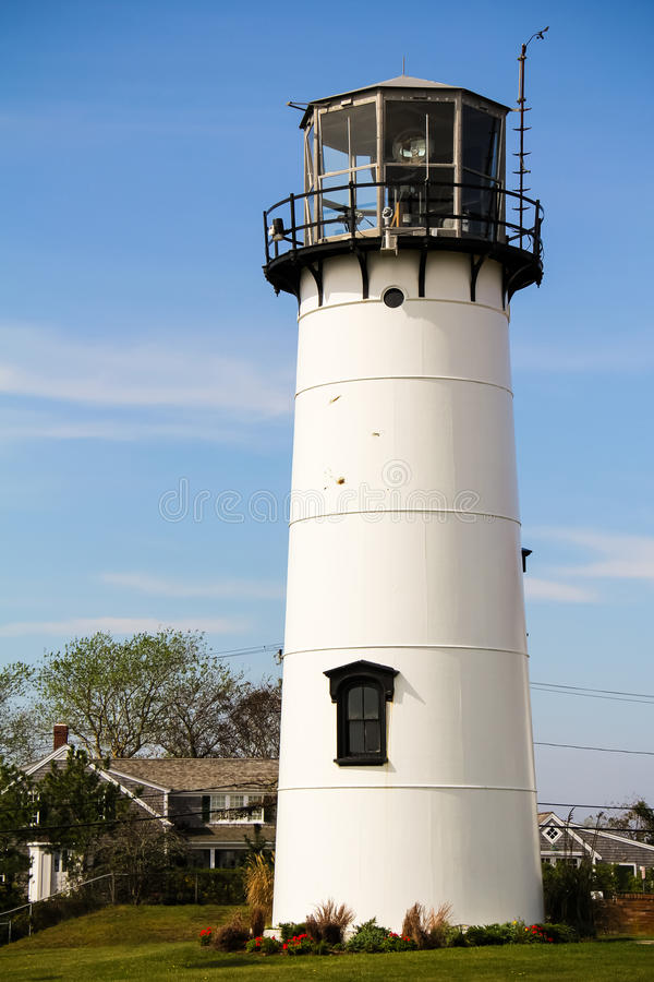 Chatham Lighthouse. Chatham Light, a lighthouse in Chatham, Massachusetts, near the elbow of Cape Cod stock photos