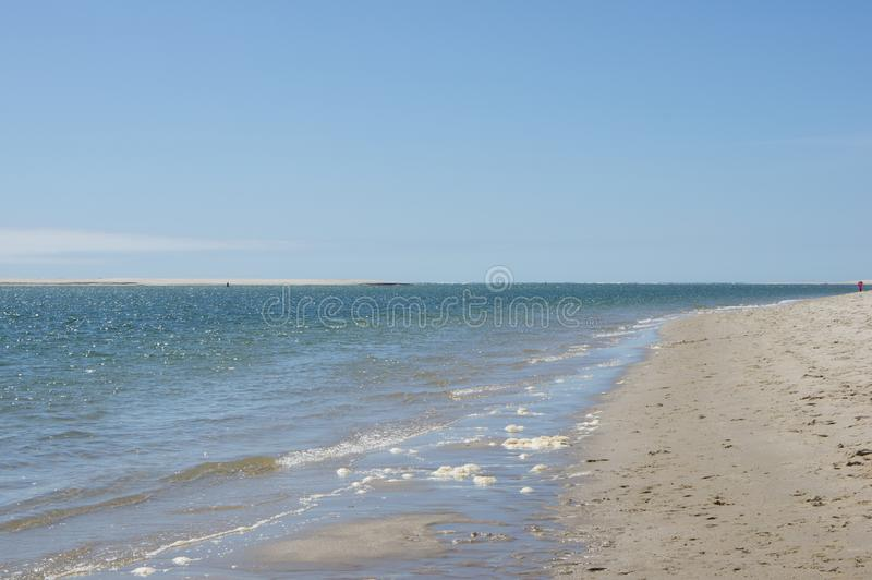View of the ocean from the beach in Chatham, MA. Chatham is located in Barnstable County, Massachusetts and is pretty much co-extensive, at least in terms of royalty free stock image