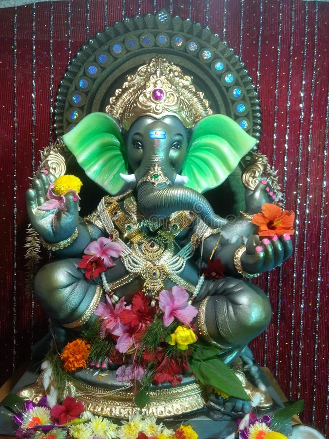 Chathurti feliz do ganesh da tradição de Indiindian fotografia de stock