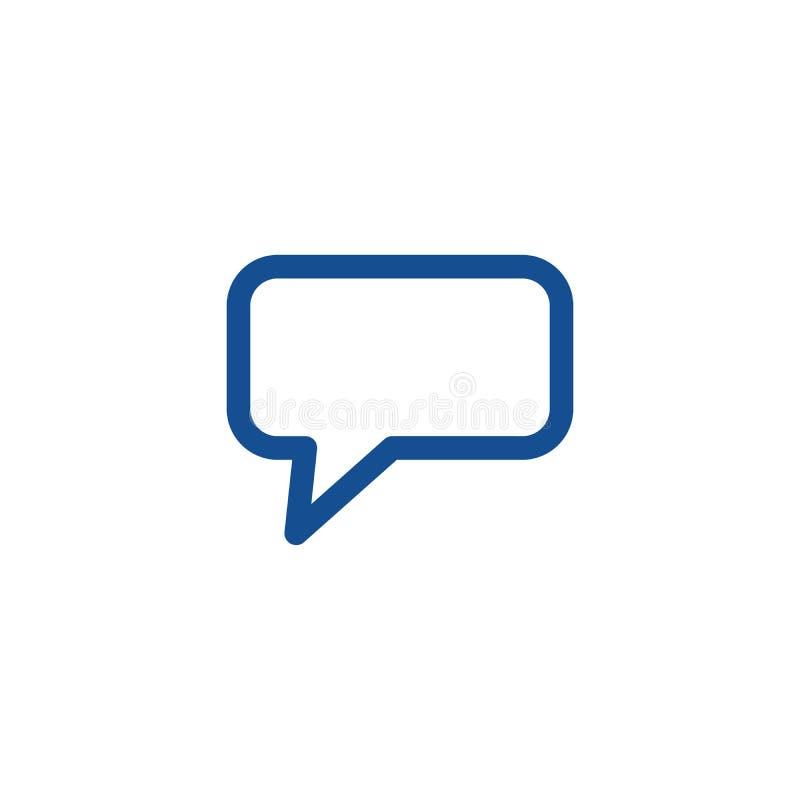 Chatikonenvektor Plaudern Sie Ikone in der modischen flachen Art Spracheblasensymbol für Webdesign Vektorillustration lokalisiert stock abbildung