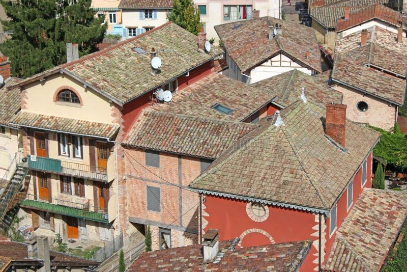 Chatillon-sur-Chalaronne Frankrike arkivbilder