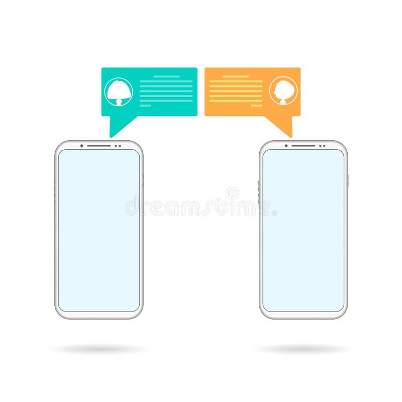 chating的手机 库存例证