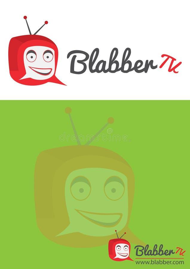 Chating tv logo stock photos