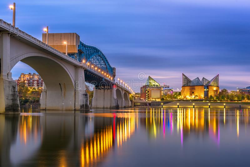 Chattanooga, Tennessee, USA Skyline royalty free stock images