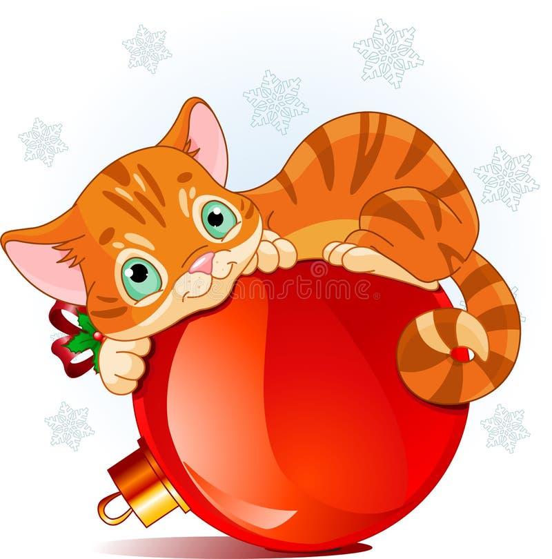 Chaton de Noël illustration de vecteur