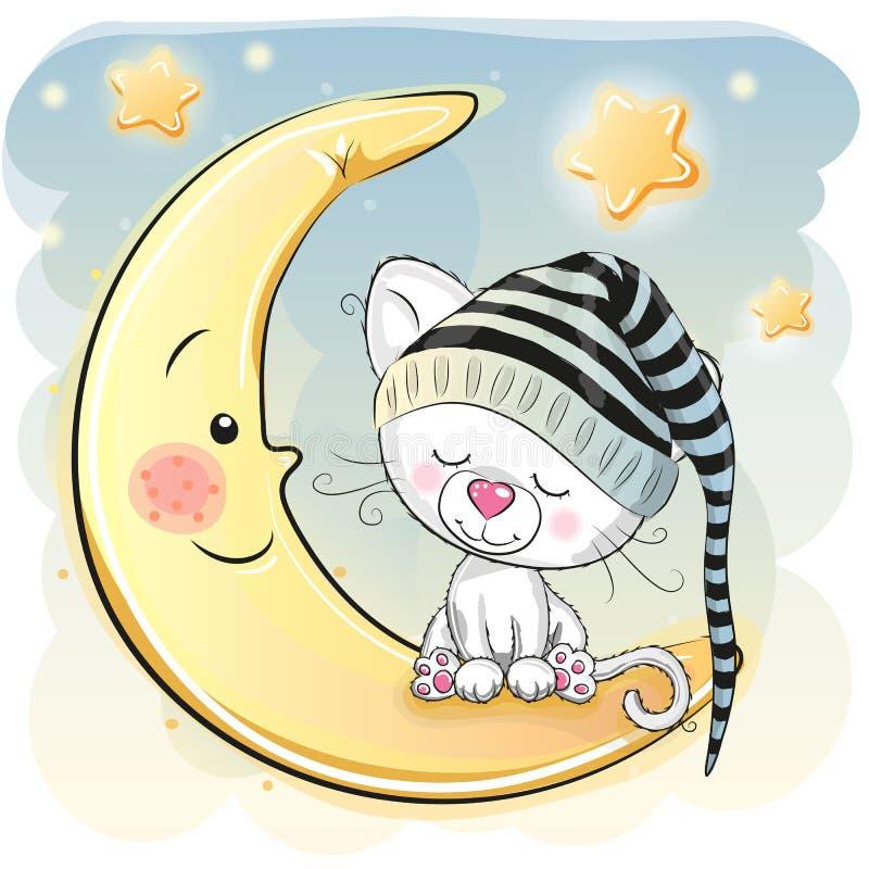 Chaton de sommeil illustration libre de droits