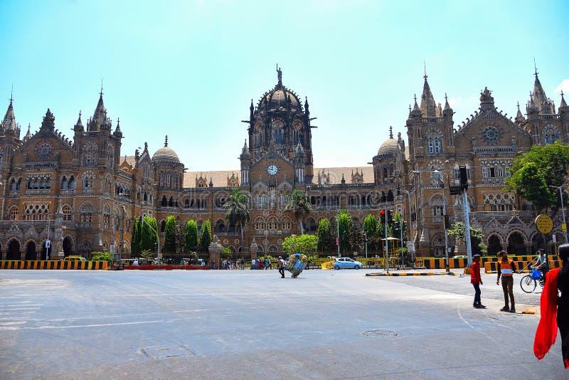 Chatrapati Shivaji Terminal, Stationcst, Victoria eindmumbai, Maharashtra royalty-vrije stock afbeelding