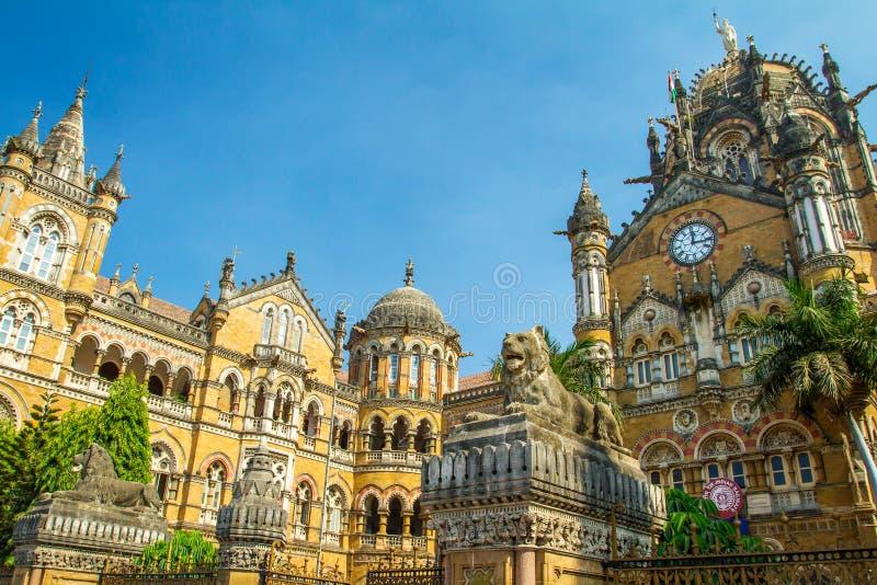 Chatrapati Shivaji Terminus i Mumbai, Indien royaltyfri fotografi