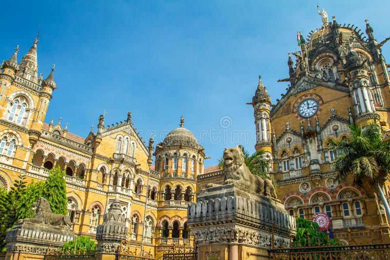 Chatrapati Shivaji Terminus in Mumbai, India royalty free stock photography