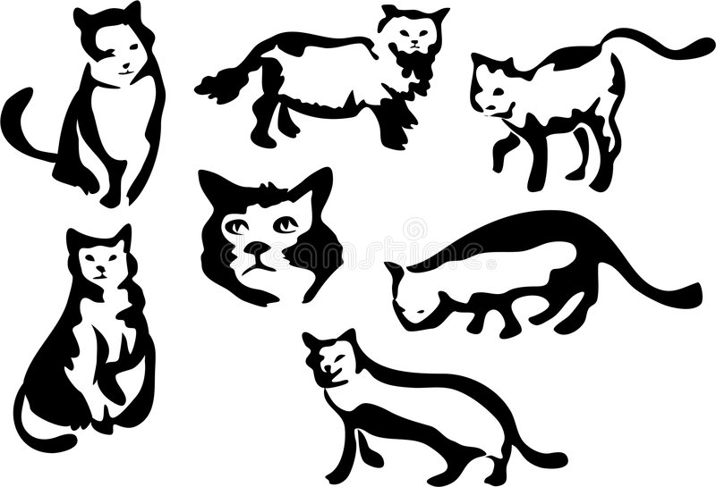 Chats illustration stock