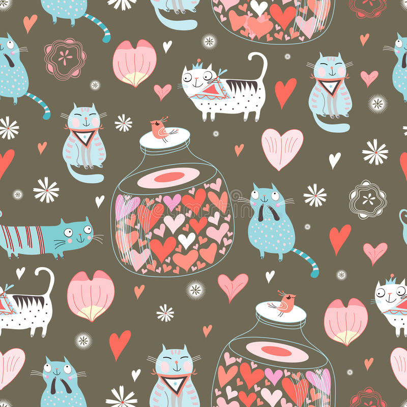 Chats d'amour de texture illustration libre de droits